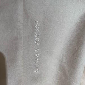 Escada Tops - Escada Sport sleeveless cream cotton button blouse